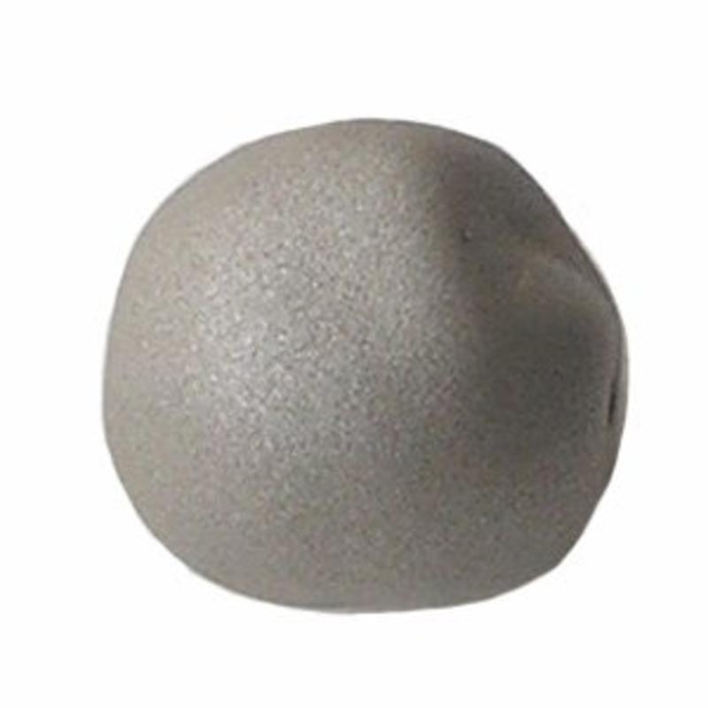 Designers kwaliteit Resinkraal. 18 mm.  Silver Mat zijdeglans.