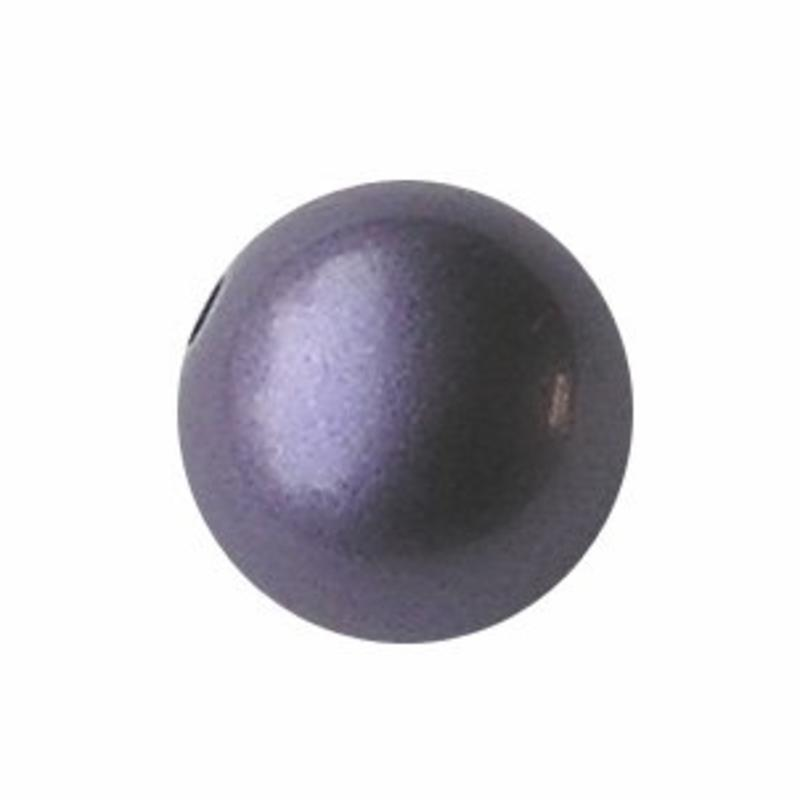 Designers kwaliteit Resinkraal. 18mm. Rond. Shiny Pearl Purple