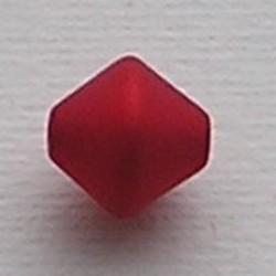Rode Polariskraal. 11mm. Bicone.