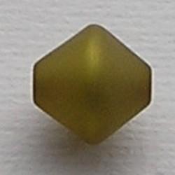 Olivine-kleurig Polariskraal. 11mm. Bicone.