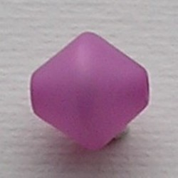Roze/Lila Polariskraal. 11mm. Bicone.