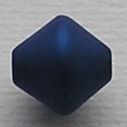 Donkerblauwe Polariskraal. 11mm. Bicone.