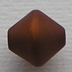 Bruine Polariskraal. 11mm. Bicone.
