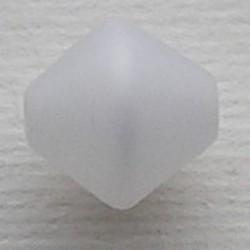 Witte Polariskraal. 11mm. Bicone.
