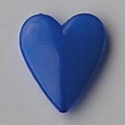 Kunststofkraal. Hart.40x48mm. Blauw.