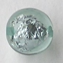 Resin Kraal. Light Blue. 16mm. Met silverfoil.