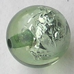 Resin Kraal. Light Petrol. 16mm. Met silverfoil.