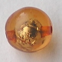 Resin Kraal. Topaas. 16mm. Met silverfoil.
