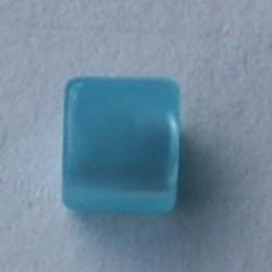 Polaris Bead Square. Shiny 8x8mm. Light Blue.