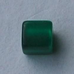 Polaris Bead Square. Shiny 8x8mm. Green.