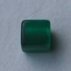 Polaris-Korn-Platz. Glänzende 8x8mm. Green.