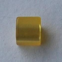 Polariskraal Vierkant. Shiny 8x8mm. Geel.