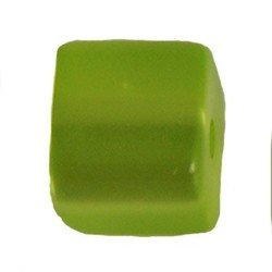 Polariskraal Vierkant. Shiny 8x8mm. Acid Green.