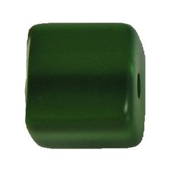 Polariskraal Vierkant. Shiny 12x12mm. Bambou Green.