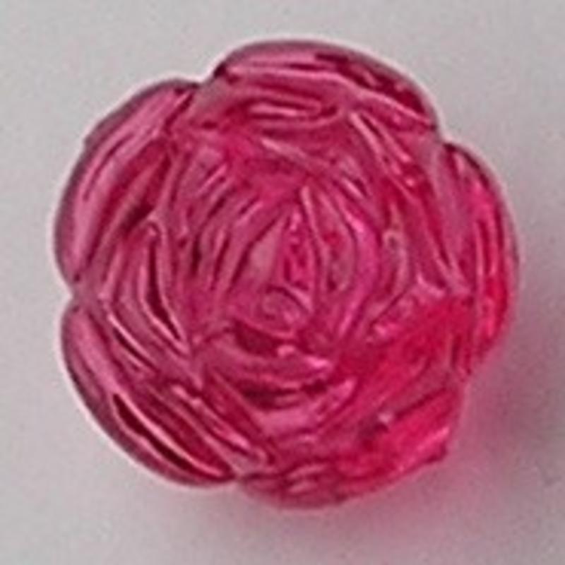 Acrylkraal. Roos. Fuchsia. 24mm.