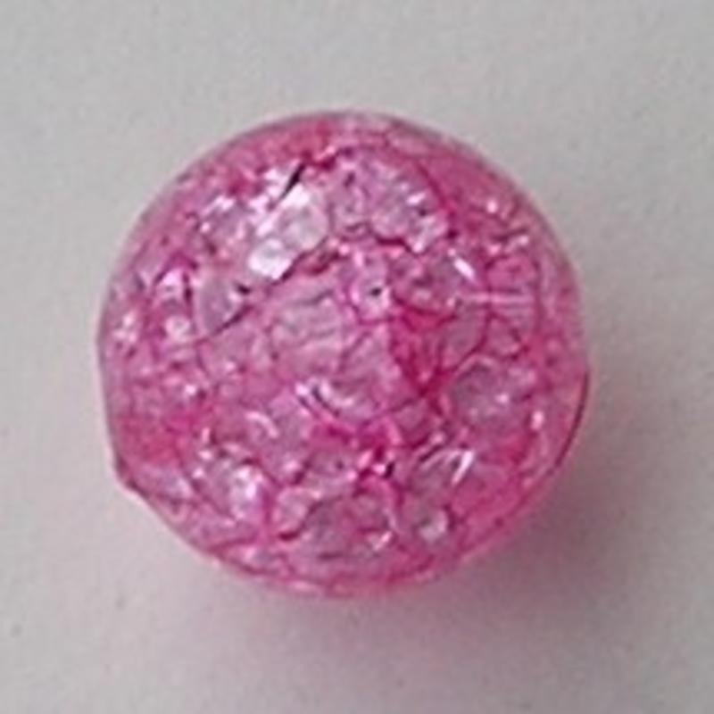 Acrylkraal Crackle. 16mm. Fuchsia.