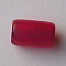 Resin Tube. 12x21mm. Rood.