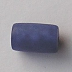 Resin Tube. 12x21mm. Mat Blauw.