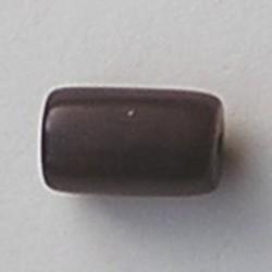 Resin Tube. 12x21mm. Bruin Glans.