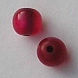 Resinkraal Rond. 10mm. Rood Glans.