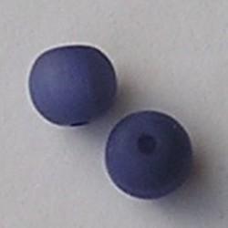 Resinkraal Rond. 10mm. Blauw Mat