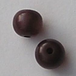 Resinkraal Rond. 10mm. Bruin Glans