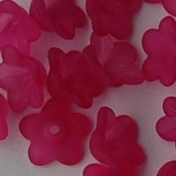 Lucite flower 13mm. Fuchsia per stuk voor.