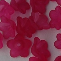 Lucite flower 13mm. Fuchsia