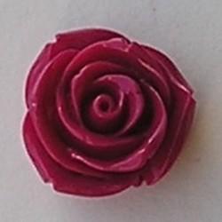 Acryl Roosje. Kraal. 22mm. Fuchsia.