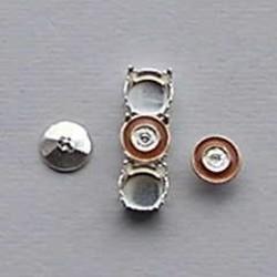 Ornamentje. Bruin. 7,1mm. voor Kastje/Verdeler en Bling Things. Per stuk