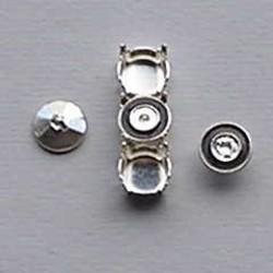 Ornamentje. Zwart. 7,1mm. voor Kastje Verdeler en Bling Things.
