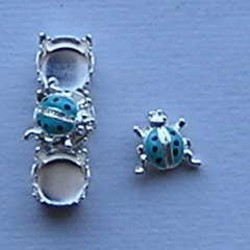 Bling Thing. Lieveheersbeestje. 9mm. Aqua.
