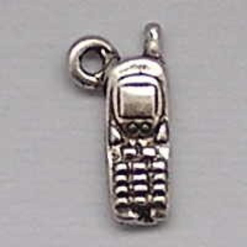 Bedel Mobiele Telefoon. 6x18mm. Verzilverd met harde beschermlaag.