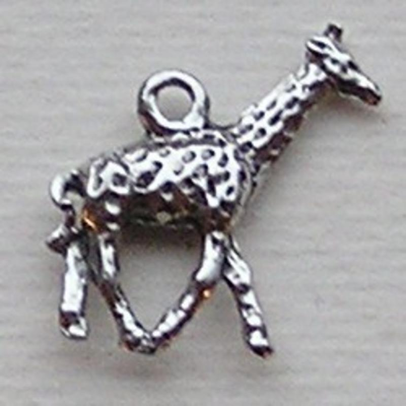Bedel Giraf. 20mm. Oudzilverkleurig. (ook in grootverpakking).