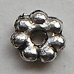 Metalen Kraal. 6mm. Spacer. Oudzilverkleurig.