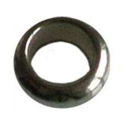 Metalen kraal Rondelle. Hoogw. kwal. 4x9mm. Zilverkleur. Rijggat 4mm.