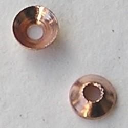 Kraalkapje Rosekleurig. 5mm. Brass. Groot rijggat