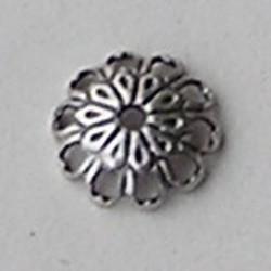 Kraalkap Filligrain.8mm. Mat zilverkleurig. Hoogwaardige kwaliteit