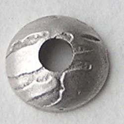 Kraalkap Hamerslag.Licht Matzilverkleurig. 8mm. Brass.