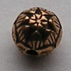 Kraal Waterlelie. 8mm. Goudkleurig. Metallook