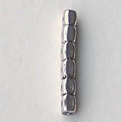 Verdeler. 35mm. Zilverkleurig voor 6 rijen.