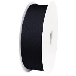 Ibiza Lint elastisch. 30mm. Black. Per 0.50 meter voor.