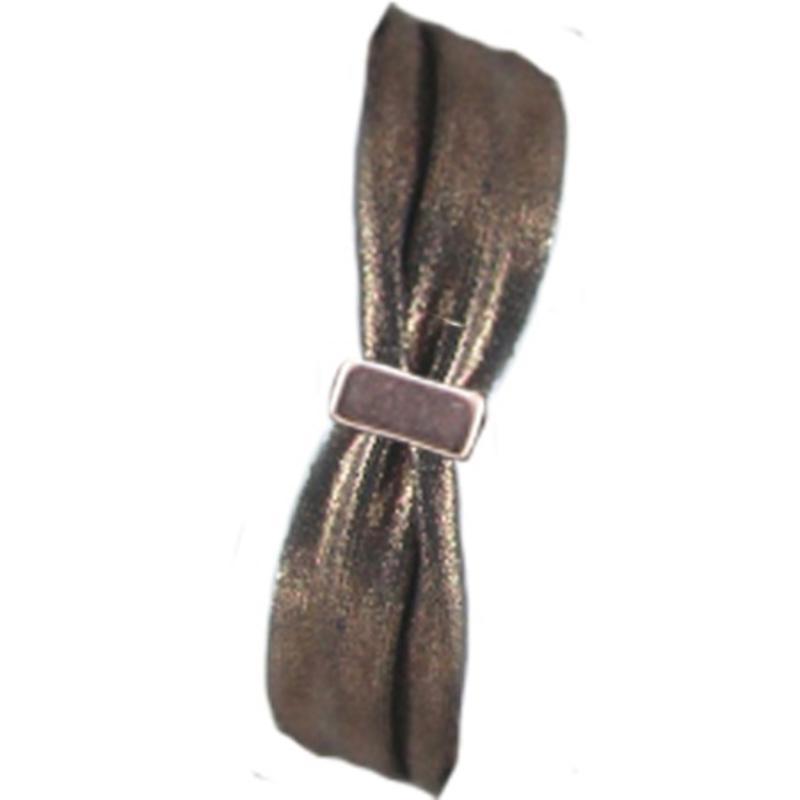 Ibiza Lint elastisch. 30mm. Copper Metallic. Per 0.50 meter voor.