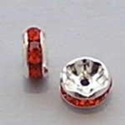 Strass-Rondel. 7mm. Oranje.