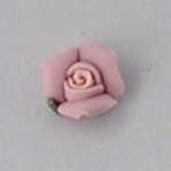 Porseleinen Roosje. 6mm. Licht Roze. Per stuk