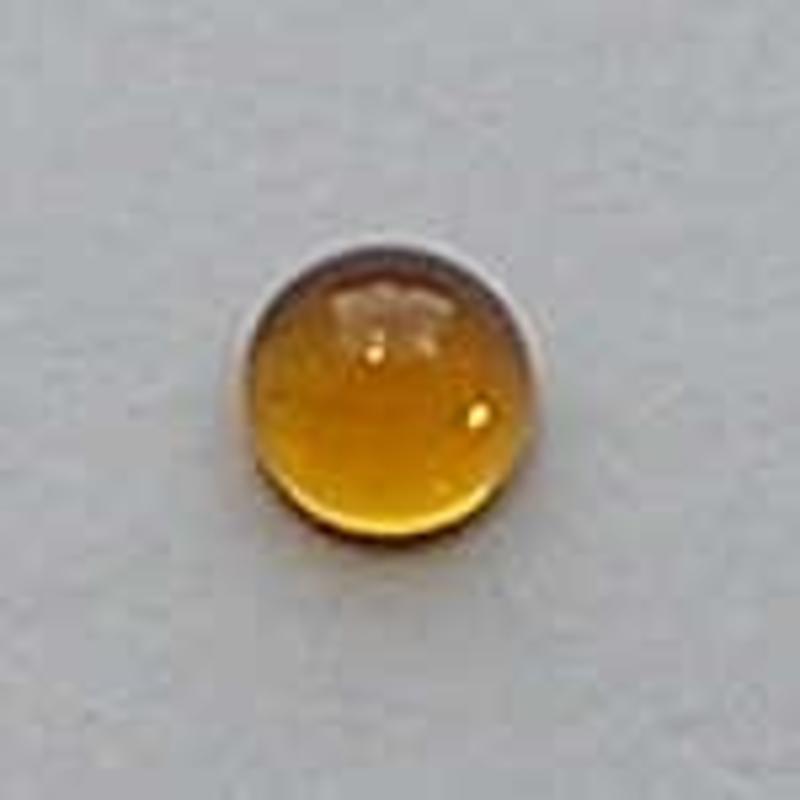 Bruine Plaksteen. 6mm. Rond. Glas.