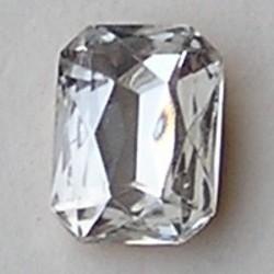 Glazen Steen 13x18mm. Crystal. (voor kastje 27504.01 en 27504.02)