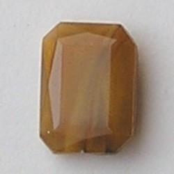 Glazen Steen 13x18mm. Shiny Brown Opal. (voor kastje 27504.01 en 27504.02)