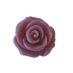 Kunststof bloem Rose met platte onderkant. Vintage rose. 13x24mm. Cabochon.