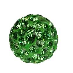 Shamballa Kraal. 10mm. Light Green.